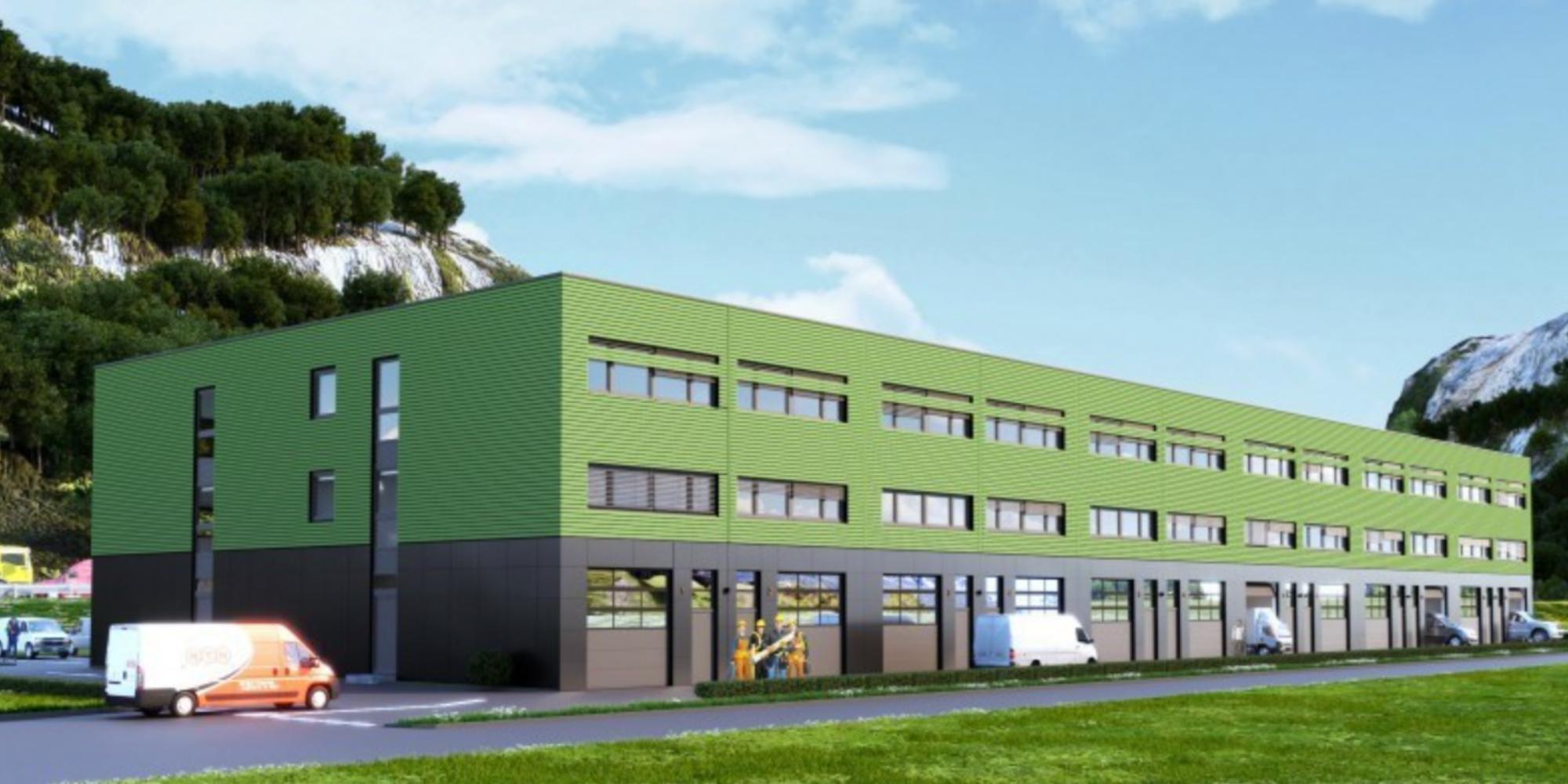 Halles industrielles neuves à vendre à Bex